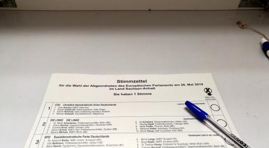wie sieht der stimmzettel zur europawahl aus